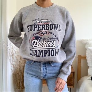 New England Patriots Super Bowl Sweatshirt Champs